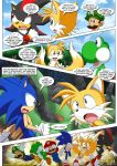 2_girls amy_rose comic mario_bros mobius_unleashed palcomix princess_peach sonic_the_hedgehog