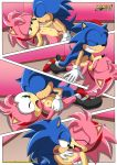 2_girls amy_rose amy_rose_(classic) comic mobius_unleashed palcomix