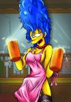 beer breasts dress garter_belt marge_simpson sideboob stockings the_simpsons