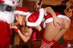 bent_over christmas closed_eyes fellatio santa_claus
