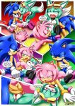 1boy 2017 2girls amy_rose comic female male mobius_unleashed palcomix sega sonar_the_fennec sonic_the_hedgehog