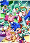 1boy 2017 2girls amy_rose anus areolae ass ass_grab breasts comic female male mobius_unleashed nipples palcomix sega sonar_the_fennec sonic_the_hedgehog