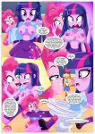 2017 applejack applejack_(mlp) breast_squeeze breasts comic equestria_girls equestria_untamed friendship_is_magic human humanized my_little_pony no_bra partially_clothed pinkie_pie pinkie_pie_(mlp) twilight_sparkle twilight_sparkle_(mlp) undressing