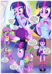 2017 clothed comic equestria_girls equestria_untamed human humanized my_little_pony panties skirt skirt_lift spike_(mlp) twilight_sparkle