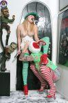 christmas elf halloween kneeling pussylicking