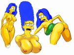 ass big_breasts marge_simpson nipples nude pubic_hair pussy the_simpsons thighs thong
