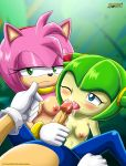 2015 2_girls amy_rose cosmo_the_seedrian mobius_unleashed palcomix penis sega semen sonic_the_hedgehog sonic_x