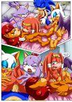4girls blaze_the_cat comic mobius_unleashed palcomix rouge_the_bat sally_acorn sonic_the_hedgehog tikal_the_echidna