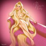 blonde_hair breasts disney nude rapunzel tangled tarusov_(artist) very_long_hair