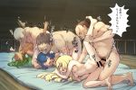 3_girls 3boys age_difference ahegao bald bar_censor censored cum cum_in_pussy cum_inside dark_skin doggy_position e_keroron fat_man fucked_silly grin group_sex hairy_legs hetero indoors interracial kneel lana leg_grab lillie lillie_(pokemon) long_hair lying male_pubic_hair mallow mallow_(pokemon) mao_(pokemon) medium_breasts missionary mosaic_censoring navel nipples old_man plump pokemon pokemon_(game) pokemon_sm pubic_hair rolling_eyes saliva sex short_hair suiren_(pokemon) top-down_bottom-up vaginal vaginal_penetration