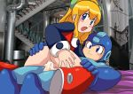 blonde_hair cum mega_man palcomix roll