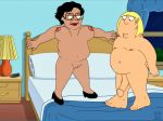 bed bedroom bouncing_breasts chris_griffin consuela family_guy funny gif guido_l jumping