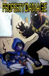 comic comic_cover dc_comics dcau mammoth property_damage raven_(dc) slashysmiley slashysmiley_(artist) teen_titans