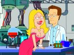 american_dad dress francine_smith nipples one_breast_out smile