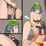 3_girls ass_on_head ball big_ass big_breasts breasts catty circus climbing dumbo embarrassing gif human_version matriarch multiple_girls parody prissy public pyramid_(artist) pyramid_girls sexy_body sitting_on_face standing_up tower_human yuri