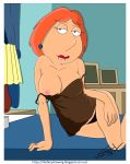 big_breasts biting_lip erect_nipples family_guy lois_griffin one_breast_out panties