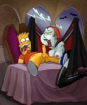 bart_simpson big_breasts bobby_luv boots cape crossover erect_nipples erection family_guy gloves lois_griffin penis the_simpsons vampire