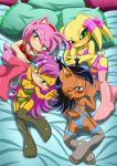 4girls amy_rose mina_mongoose mobius_unleashed nicole_the_lynx palcomix