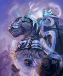 1guy armor cutesexyrobutts glowing_eyes horse nifelheim ragnarok_online shield wanderer