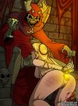 anal_object_insertion ass blonde_hair disney fellatio forced fuckit_(artist) hands_tied_behind_back kneel long_hair nude oral princess_eilonwy pussy the_black_cauldron the_horned_king tied_hands