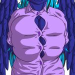 1girl anthro anthrofied big_breasts blouse blue_hair bounce bouncing_breasts breasts button_(disambiguation) button_popping cleavage clothed clothing equine feathers fogdagger furry gif hair horse huge_breasts mammal midnight_mist my_little_pony pegasus pony straining_shirt voluptuous wardrobe_malfunction wings