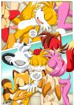 amy_rose barby_koala cream_the_rabbit fiona_fox marine_the_raccoon miles_prower mobius_unleashed palcomix tagme tails'_tinkering's_(comic)