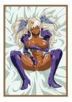 angel_blade nailkaiser nipple_piercing nipple_pinch nude on_back on_bed pussy spread_legs