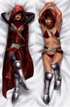 1girl artist_request bikini champions_of_europe dakimakura guillotine_(jeannine_sauvage) lipstick looking_at_viewer marvel marvel_comics mask red_eyes red_hair