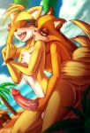 """<3 1girl akazulla anthro badger balls beach blue_eyes bound breasts canine duo erection eyes_covered fox furry handjob male male/female mammal masturbation miles_""""tails""""_prower mustelid nude open_mouth penis precum seaside sega sex sonic_boom sticks_the_jungle_badger tongue tongue_out vein veiny_penis video_games"""