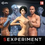 alien alien_girl aliens babe black_hair blue_eyes exxxplay game manicure short_hair