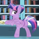 1girl 2018 alicorn alternate_hairstyle animal_genitalia animal_pussy anus ass bedroom_eyes book bookshelf clitoral_winking clitoris counter crystal_pony_(mlp) cutie_mark dock equine equine_pussy eyebrows eyelashes feathered_wings feathers female feral friendship_is_magic full-length_portrait hair hairband half-closed_eyes high_res horn inside inviting leaning leaning_forward library looking_back makeup mammal mascara multicolored_hair my_little_pony nude pinup portrait pose presenting presenting_hindquarters puffy_anus purple_eyes pussy pussy_juice scroll seductive shutterflyeqd signature smile sparkles standing text twilight_sparkle twilight_sparkle_(mlp) wings