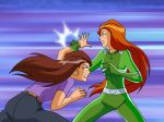 ass catsuit fighting gabby gif jeans mother_and_daughter punching sam totally_spies