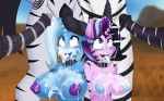1girl 2018 animal_genitalia animal_penis anthro areola balls breasts cum cum_in_hair cum_on_breasts cum_on_face cum_on_tongue cutie_mark digital_media_(artwork) disembodied_penis equine equine_penis erection faceless_male friendship_is_magic furry group hair high_res horn jrvanesbroek male male/female mammal multicolored_hair my_little_pony nipples outside penis starlight_glimmer_(mlp) tongue tongue_out trixie_(mlp) two_tone_hair unicorn vein zebra