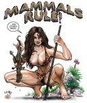 basement_comics big_breasts breasts catthouse cavewoman dinosaur hair meriem_cooper nude pubic_hair tcatt