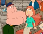 animated breasts family_guy fingers gif lois_griffin nipples no_bra peter_griffin pussy shirt_lift stewie_griffin