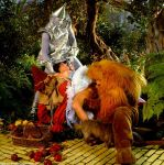 1995 cowardly_lion dorothy_gale scarecrow the_wizard_of_oz tin_man toto wizard_of_oz