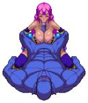 1boy 1girl animated animated_gif bouncing_breasts breasts chijoku_no_troll_busters closed_eyes dark_skin fellatio gloves hair interspecies large_breasts lowres monster oral orc paizuri pixel_art purple_hair rape red-p sex simple_background size_difference transparent_background troll