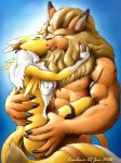 digimon furry karabiner kiss kissing leomon renamon sex