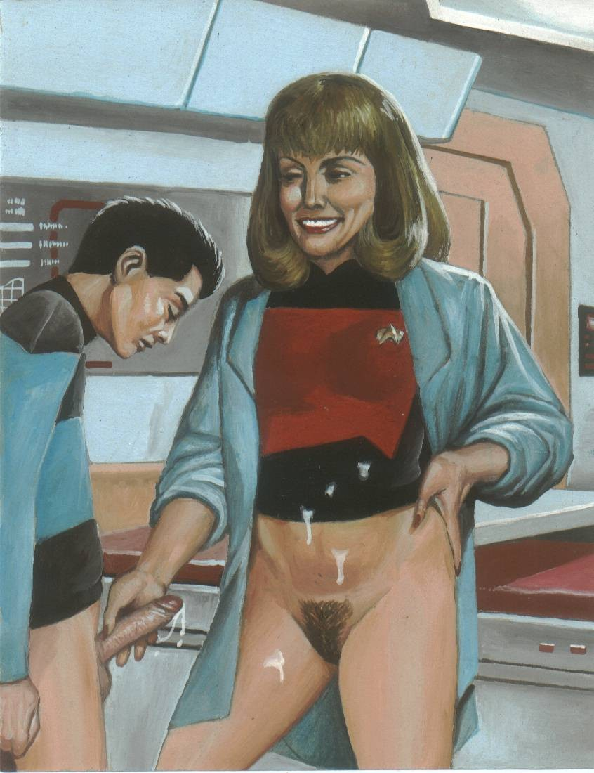 age_difference cum cum_on_clothes hand_job love milf mother_and_son penis pubic_hair size_difference son star_trek star_trek_the_next_generation uniform