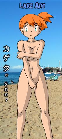 nude beach misty Pokemon