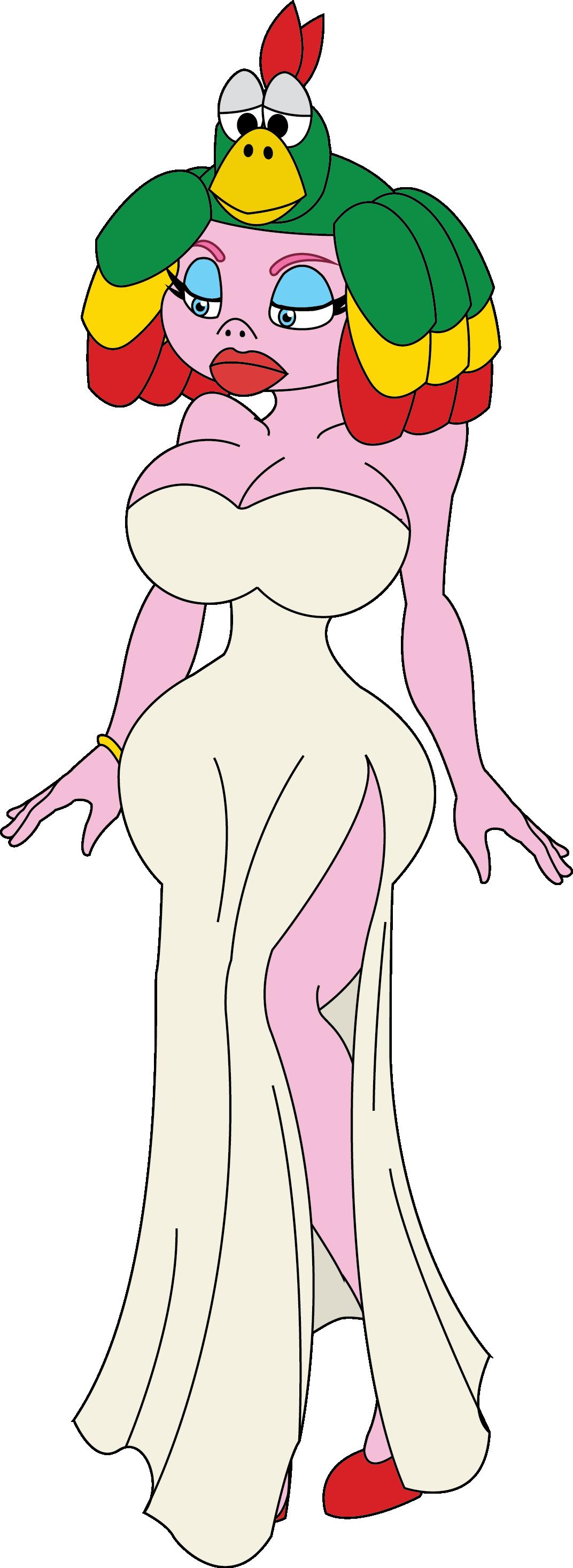 big_breasts breasts nintendo queen_valentina solo super_mario_bros. super_mario_rpg