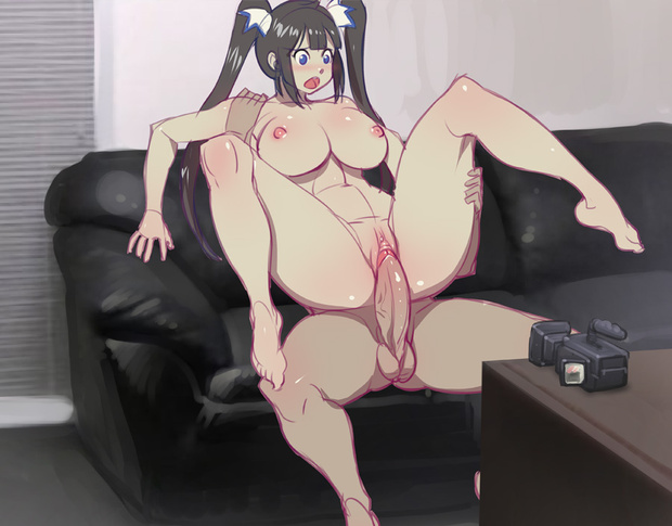 1boy 1girl 2010s ass big_breasts black_hair blue_eyes bokuman_(artist) breasts camera casting_couch couch curvaceous dark-skinned_male dark_skin dungeon_ni_deai_wo_motomeru_no_wa_machigatteiru_darou_ka? faceless faceless_male feet girl_on_top goddess hestia_(danmachi) hetero huge_penis light-skinned light-skinned_female long_hair looking_pleasured male nipples nude penis pussy recording reverse_cowgirl_position sex sex_on_the_couch solo_focus spread_legs straddling testicle thick_thighs thighs tied_hair twin_tails vaginal veins veiny_penis very_long_hair video_camera waifu_on_couch wide_hips