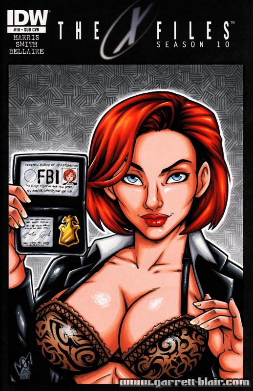 bra comic_cover dana_scully garrett_blair garrett_blair_(artist) looking_at_viewer non-nude x-files