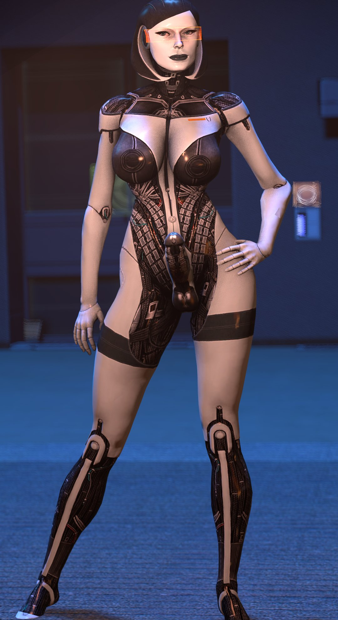 android big_breasts breasts dickgirl edi futa looking_at_viewer mass_effect mass_effect_3 penis robot source_filmmaker