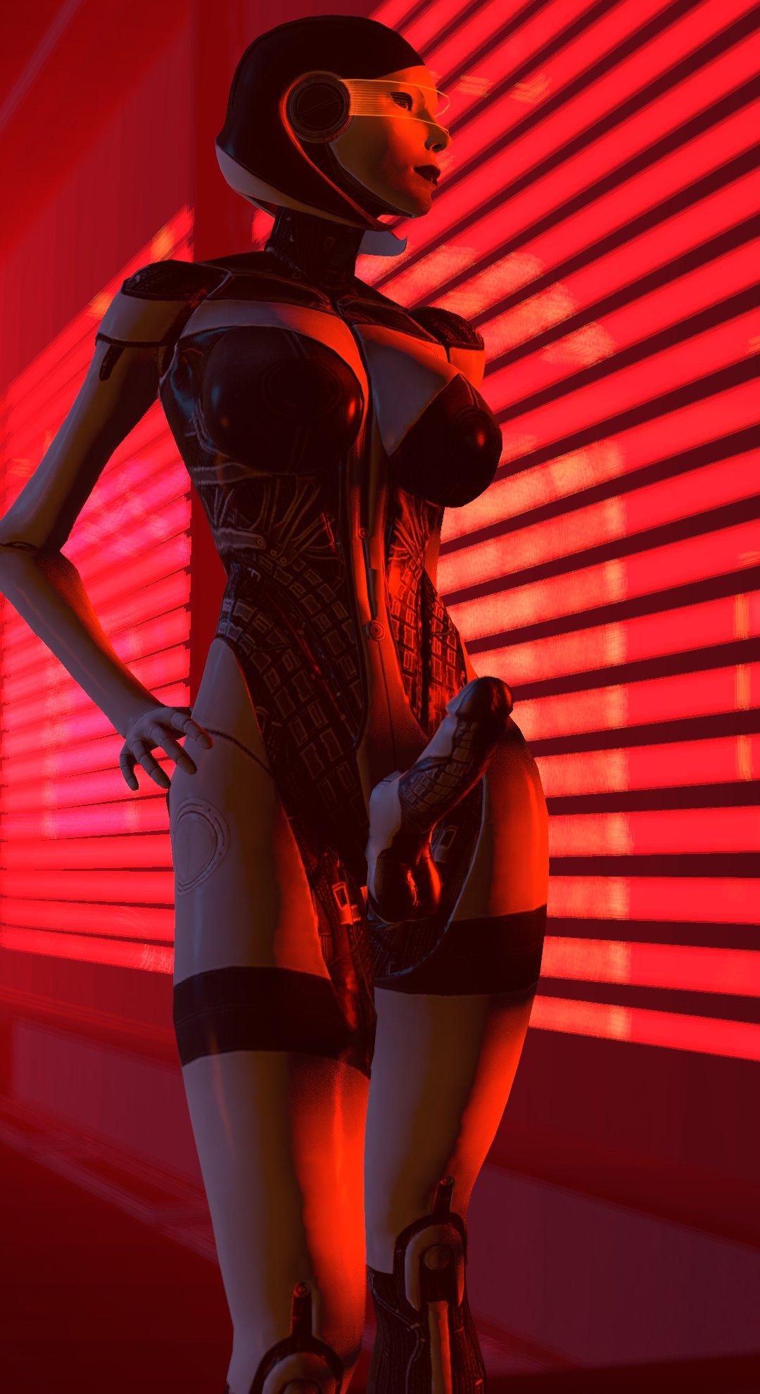 android big_breasts breasts dickgirl edi futa mass_effect mass_effect_3 penis robot source_filmmaker