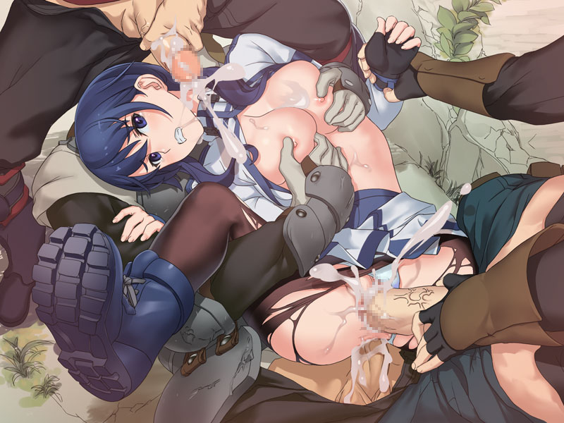 1_female 1_girl 3_boys 3_males anal_penetration blue_eyes blue_hair boots breast_grab breasts censored cum cum_in_ass cum_in_pussy cumshot double_penetration erection exposed_breasts faceless_male female female_human foursome gangbang hair hairless_pussy human human/human human_only legs_up long_hair looking_at_viewer lying male male/female male_human masturbation multiple_boys nipples on_back outdoors penis pussy rape skirt standing testicles torn_clothes vaginal vaginal_penetration