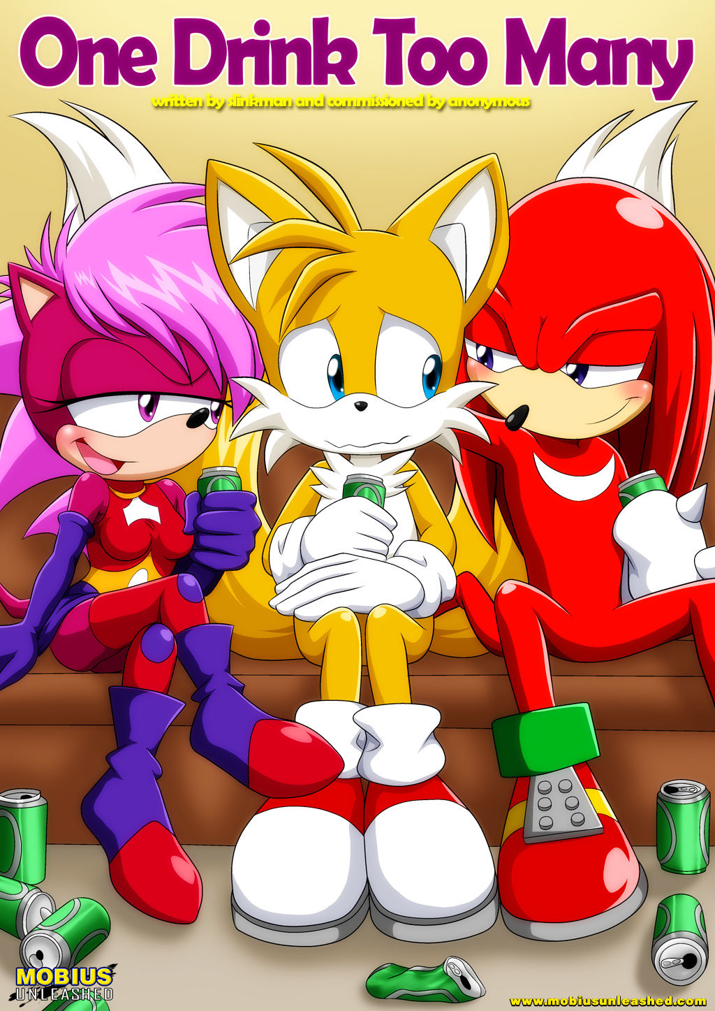 """knuckles_the_echidna miles_""""tails""""_prower mobius_unleashed multiple_tails sonia_the_hedgehog tagme tail"""
