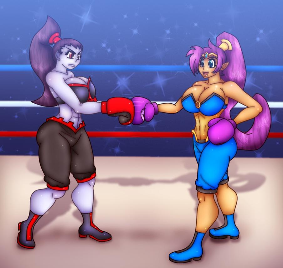 big_breasts breasts cleavage malphasbcs risky_boots shantae shantae_(character)