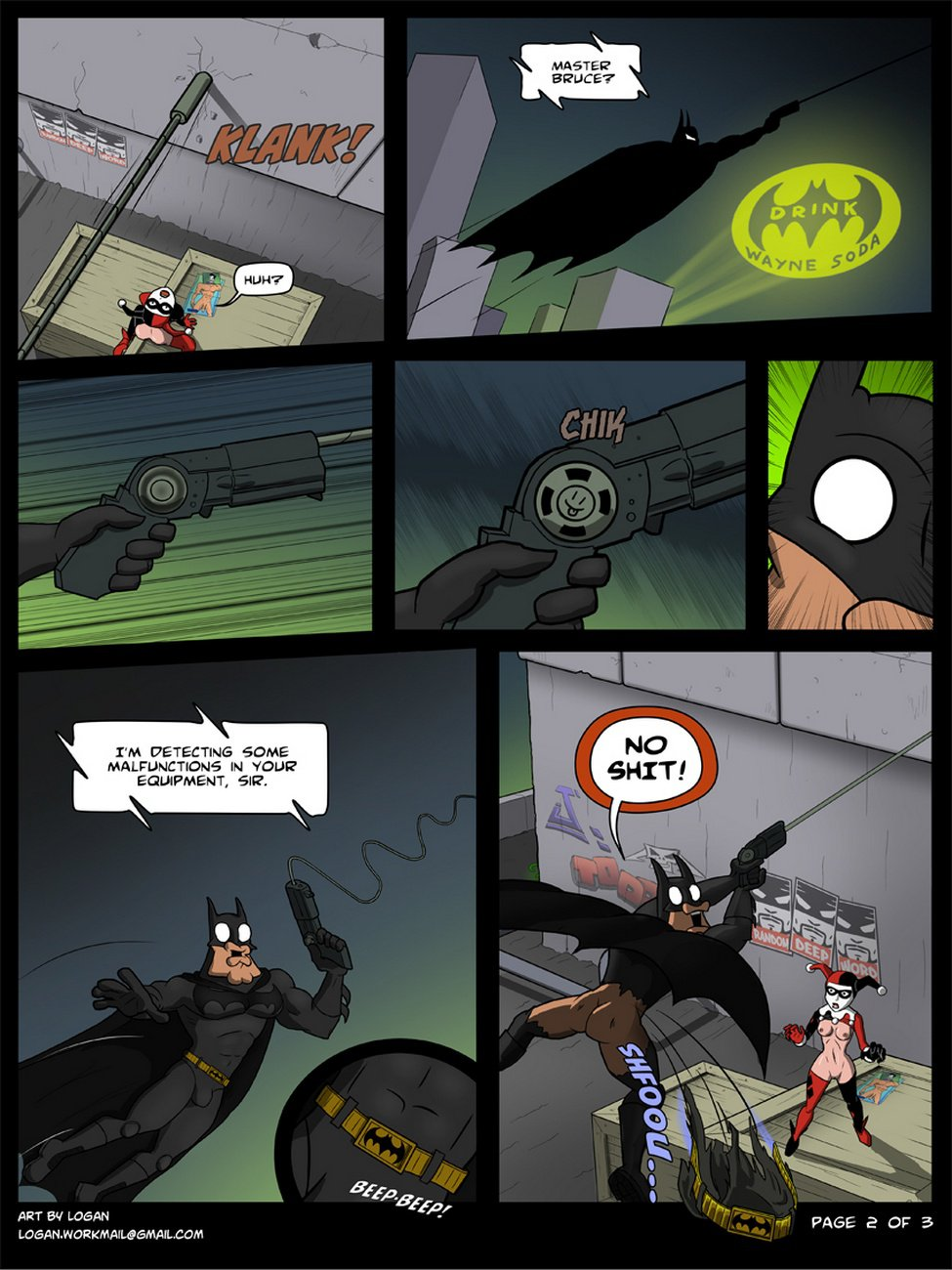 batman batman_(series) batman_the_animated_series bruce_wayne comic harleen_quinzel harley_quinn logan_(artist) nude