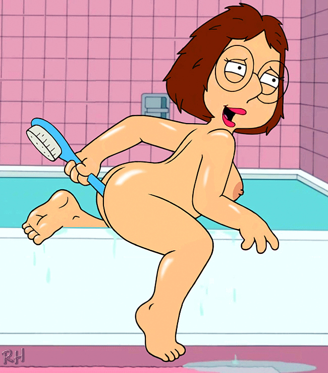 anal_object_insertion bath breasts erect_nipples family_guy glasses meg_griffin nude orgasm_face thighs